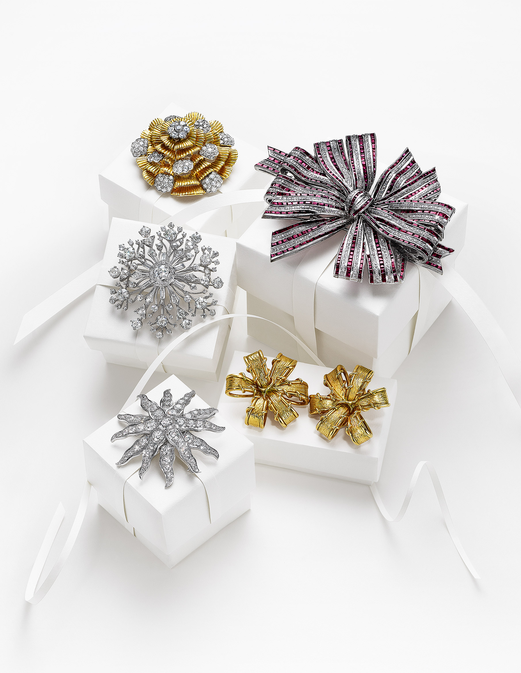 Brooches with Boxes