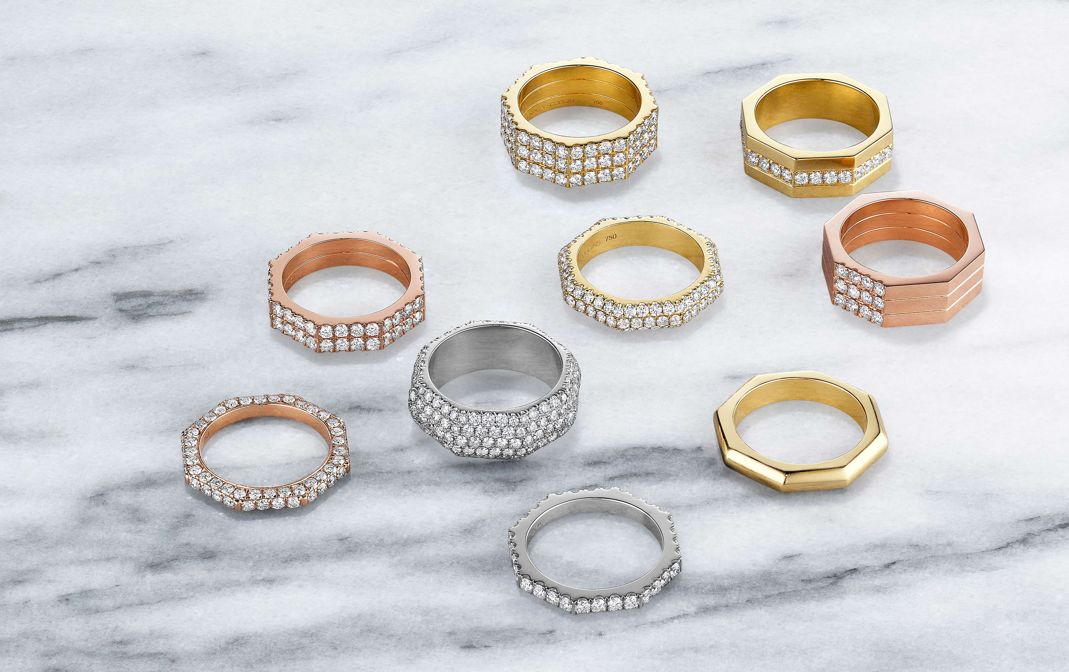 Jewelry Couture Lindsey Scoggins Pave Rings