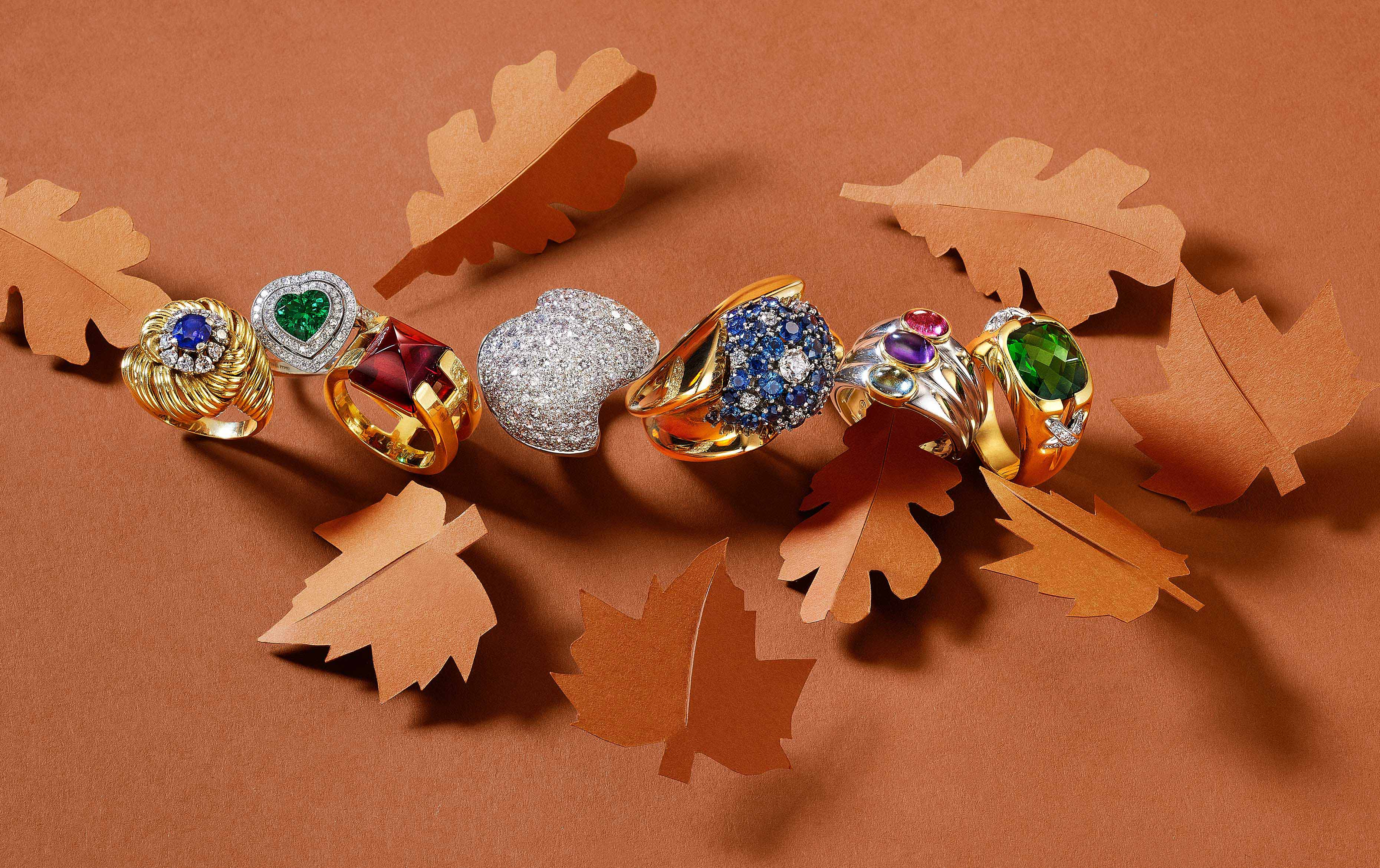 Jewelry Paper Leaves Rings